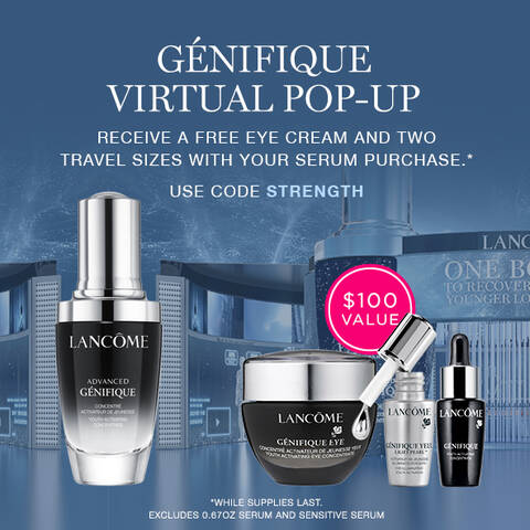 genifique virtual pop up