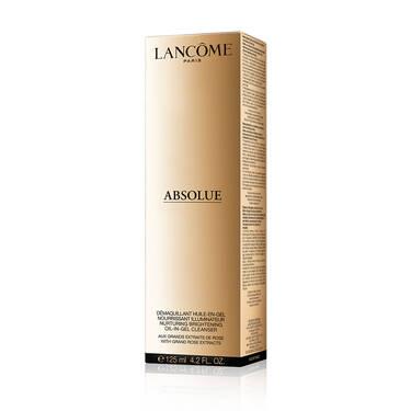 Desmaquillante oleoso en gel, nutritivo e iluminador Absolue, con extractos de rosas