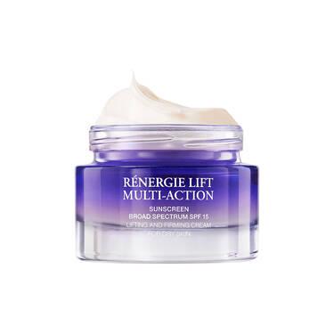 适合干性肌肤的 Rénergie Lift Multi-Action Rich Cream(立体塑颜多效紧致特润日霜),防晒指数 SPF 15